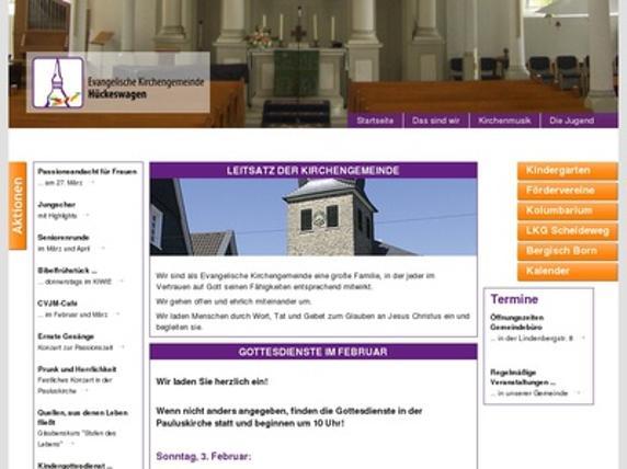 Homepage Ev. Kirchegemeinde Hückeswagen